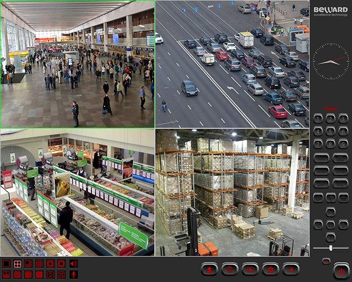 интерфейс IP-видеорегистратора BEWARD IP Visor и BEWARD Record Center