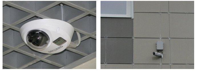 Установленные IP-камеры BD4330DH и BD4330RVZ
