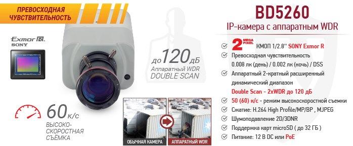 Новинка! 2 Мп IP-камера BD5260 с высокочувствительным сенсором Exmor R